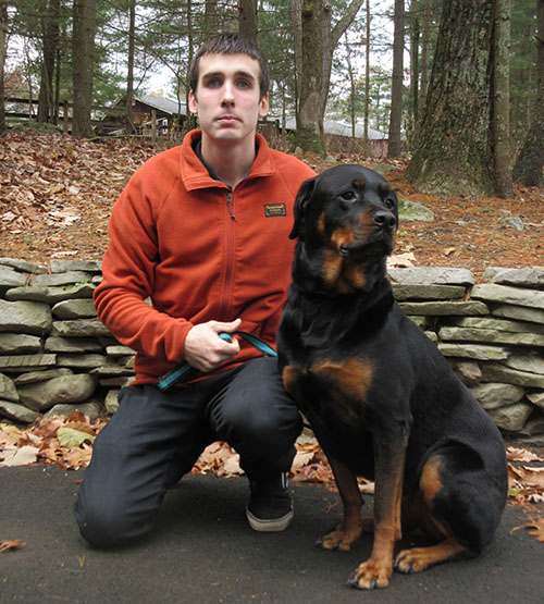 Chris and his rottie, Dutchie