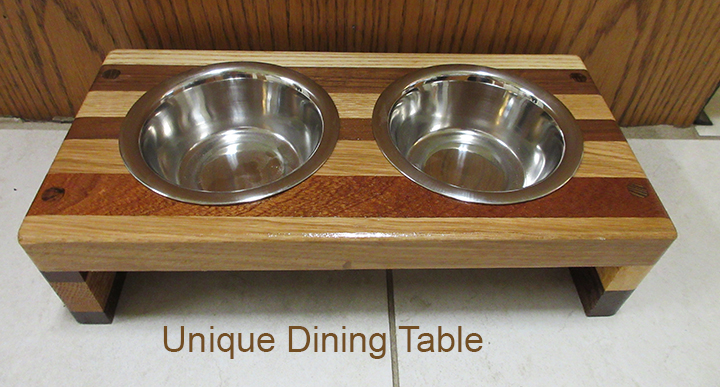 Photo of wooden feeding table