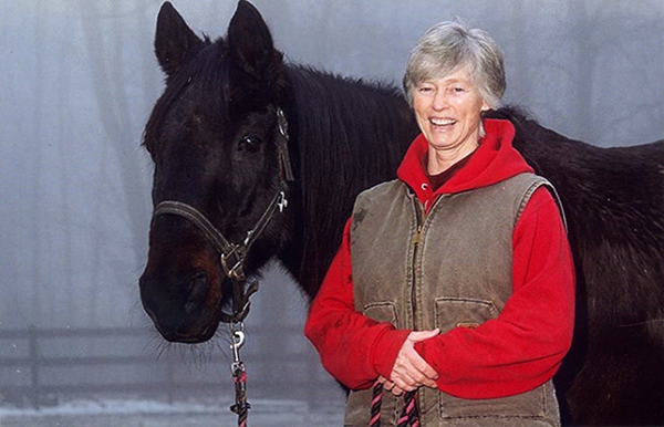 Martha and horse, Diggy